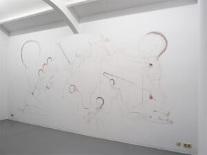 14.2005 Child. Wall drawings.