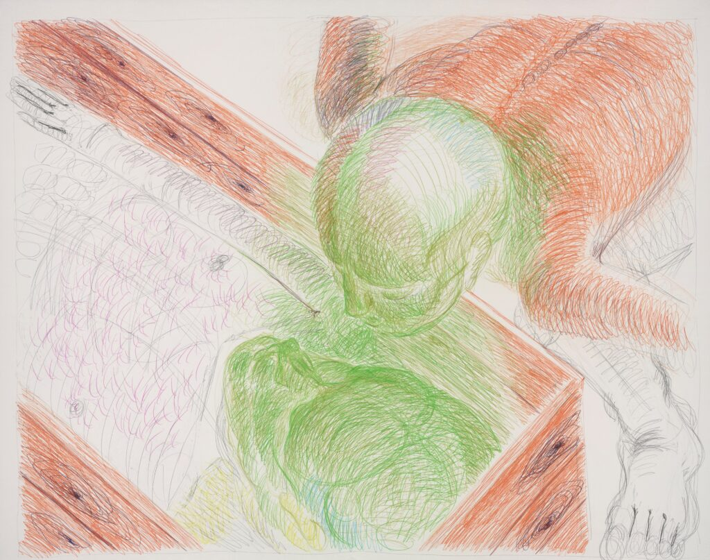 Untitled. Coloured pencil on paper. 120 x 150 cm. 2015.