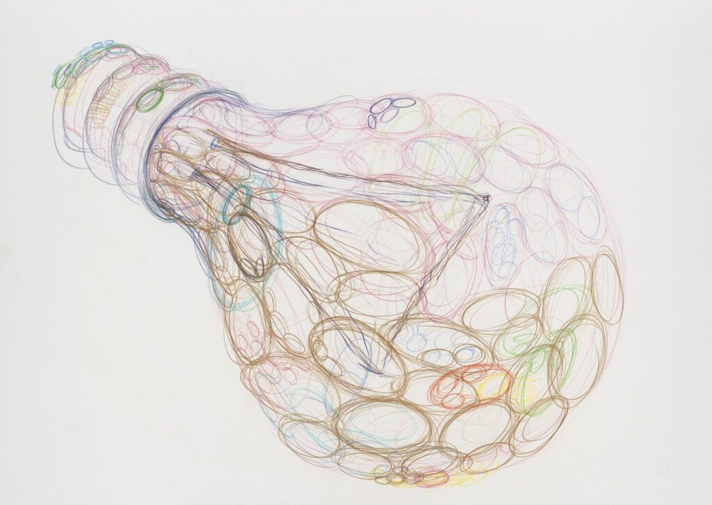 Glass. Coloured pencil on paper. 70 x 100 cm. 2011.