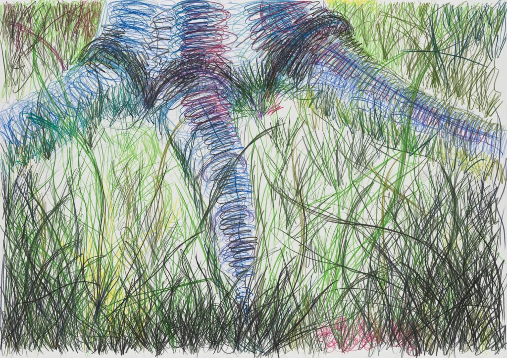 In between. Coloured pencil on paper. 70 x 100 cm. 2010
