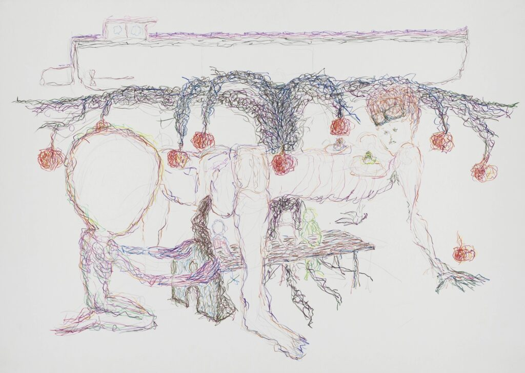 Untitled. Coloured pencil on paper. 70 x 100 cm. 2003.