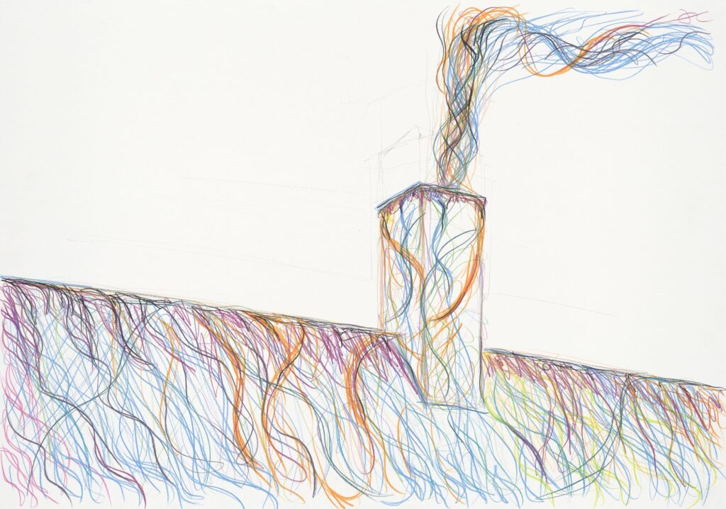 Untitled. Coloured pencil on paper. 70 x 100 cm. 2009.
