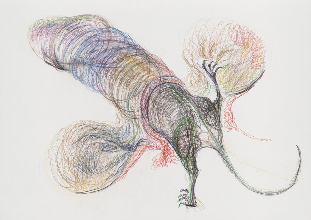 Untitled. Coloured pencil on paper. 70 x 100 cm. 2011.