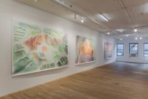 Bridget Donahue. Saturated Manuscript. Overview. Colored pencil on paper. 214 x 321 cm each. 2020. Photo Gregory Carideo.